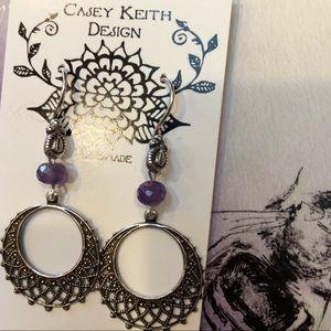 Casey Keith Design Jewelry - Amethyst Statement Earrings